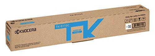 Kyocera TK-8115C Cartucho de tóner Cian 1T02P3CNL0 para ECOSYS M8124cidn, ECOSYS M8130cidn ⭐