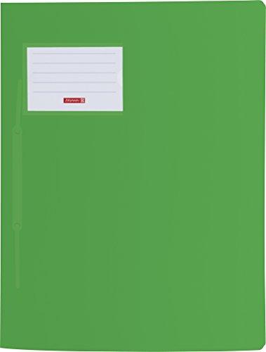 Brunnen 102015050 Schnellhefter FACT!pp (A4, aus transluzentem PP, mit Namensschild, mit Einstecktasche innen) grün