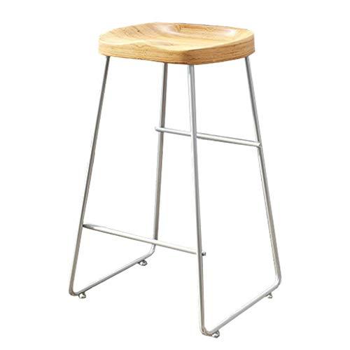 Relaxbx barkruk zonder rugleuning van hout met tegenhoogte Home Kitchen Hoogte 17,7