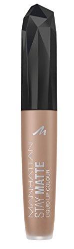 Manhattan Stay Matte Liquid Lip Colour, Matter, wisch- und wasserfester Lippenstift für langanhaltende Farbintensität, Farbe I Love Nude York 110, 1 x 5,5ml