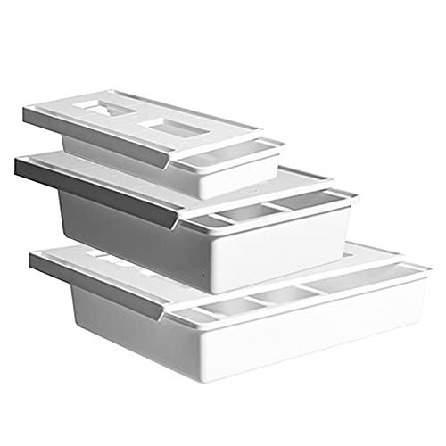 Caja de almacenamiento debajo de la mesa Caja de almacenamiento con pegamento que no deja marcas Bandeja de soporte de almacenamiento con adhesivo fuerte para vajilla de cosméticos con control remoto