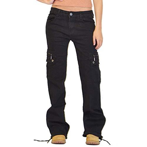 AmyGline Jeanshose Damen Cargohose Militär Jeans Hosen Weite Beinhosen Freizeithose Sporthose Schlaghose Outdoorhose Arbeitshose