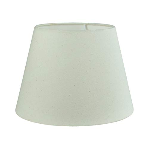 Wogati Premium Lampenschirm 25 cm x 16,5 cm x 18 cm / Beige /Ivory / Elfenbein/ Stoff / E14 / E27