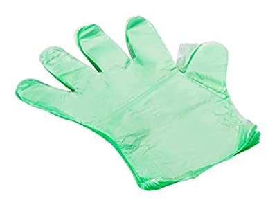 Camco Durable All Purpose RV and Camper Disposable Sanitation Gloves - Will Grip in Wet or Dry Conditions | Green Latex Gloves - 100 Pack (40285) by Camco
