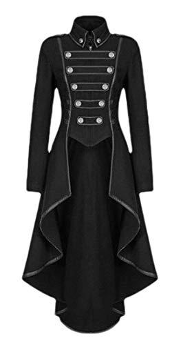 Sweetmini Dames Cosplay Goth Onregelmatige-Hem Tuxedo Steampunk Trenchcoats