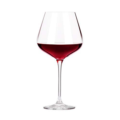 Vaso Transparente Cristal Vino Tinto Copa Sin Plomo 2 Piezas 800ml Copa de vino tinto de cristal borgoña