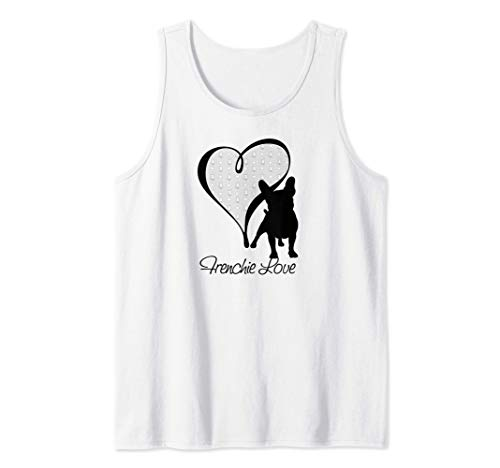 Frenchie Love, French Bulldog Tank Top