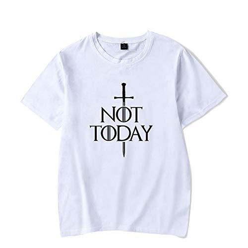 Drama Televisivo A Song of Ice and Fire Arya Stark Camiseta Arya Stark Not Today T-Shirt con La Tendencia de la Arya Stark Camiseta de Verano de Manga Corta Tops
