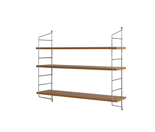 Étagères murales Étagères, deux ou trois étagères de rangement en bois étagères en métal, étagères, étagères en bois suspendues (Couleur : B)