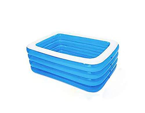 HYRHYT Planschbecken Tragbar Gefaltet Verdickte Aufblasbarer Pool Erwachsene Family Easy Set Aufblasbare Rectangular Lounge Pool,180 * 135 * 72