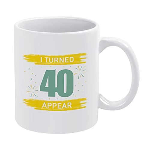 330ml divertido taza de café taza de agua la llegada 40 años de edad