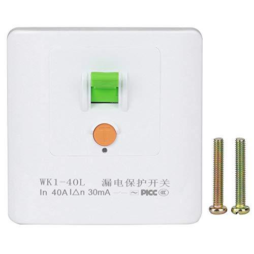 40A Durable Protector de fugas Enchufe Protector de fugas eléctrico Interruptor de enchufe de pared Aire acondicionado Calentador de agua eléctrico para casas familiares Hospitales