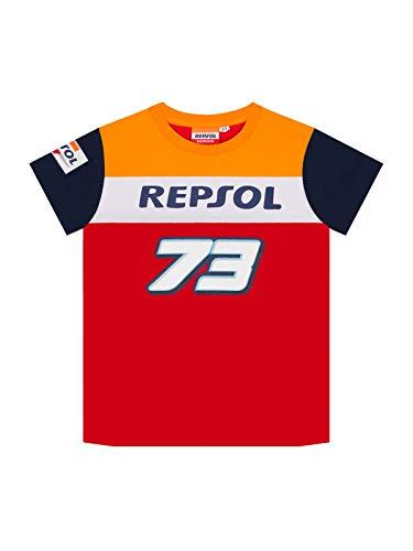 Alex Marquez T-Shirt Ufficiale da Bambino 73 Big 73 Ufficiale MotoGP Racing - Rossa - 10/11 Anni