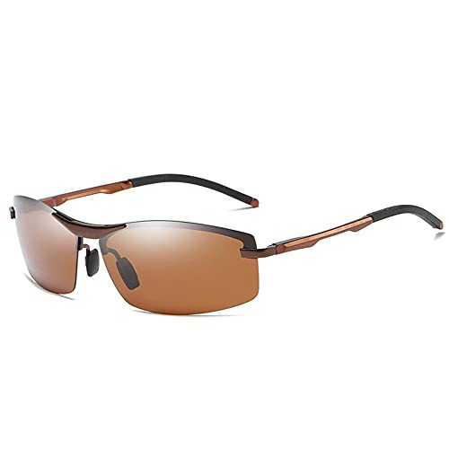 LeftSuper A557 Gafas de Sol polarizadas fotocromáticas para Hombres Gafas de Sol con Lentes de transición de conducción Gafas de Sol fotosensibles Que cambian de Color