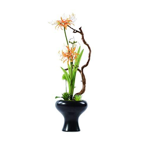 Plantas de plástico de peonía Flor de seda planta en maceta es fácil de limpiar apropiados for la flor flor artificial sala de té oficina bonsai bonsai falso jarrón de cerámica Flores de peonía artifi