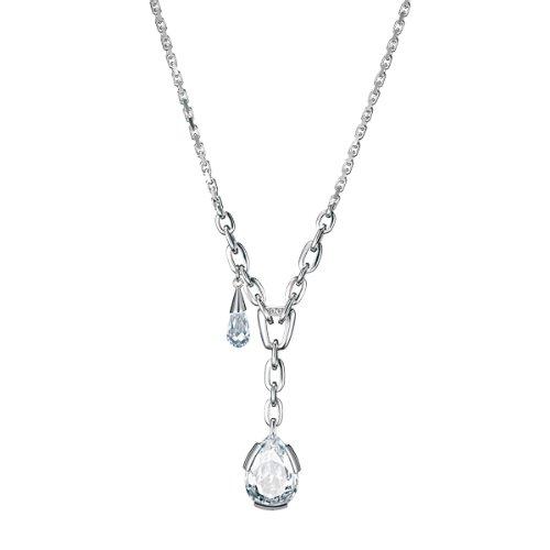 Joop! Damen-Halskette mit Anhänger 925 Sterling Silber mit brauner Zirkonia JPNL90243A420