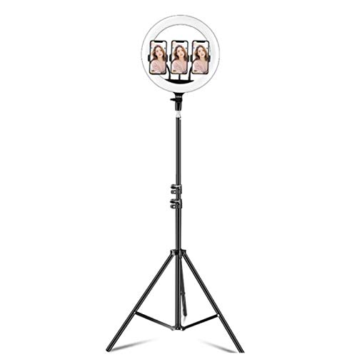 wenjinghua WJH 14 3 Pulgadas Teléfono Clips Regulable Temperatura de Color Anillo de LED de luz de Relleno Live Set Broadcast con 2,1 m Montaje de trípode, CN Plug