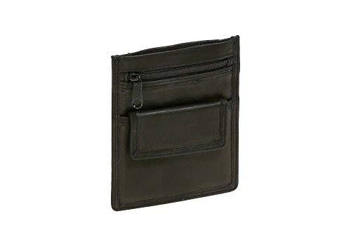 LEAS Pochette de s/écurit/é en cuir v/éritable marron clair Travel-Line