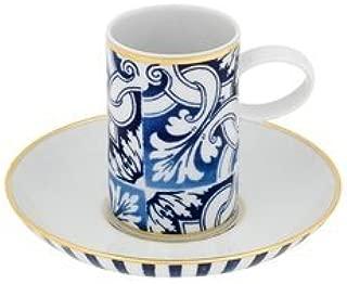Vista Alegre Transatlacntica Coffee Cup & Saucer by Brunno Jahara