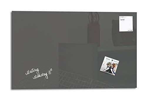 Glas Expert | Smart Glass Board ® | Glas Whiteboard | 78 x 48 cm | Grau | Magnettafel | Memoboard | Magnetwand | Pinnwand Tafel | + 2 Magnete + 1 Marker