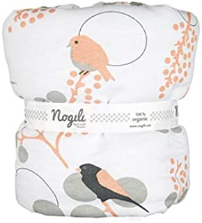 Nogili Hypoallergenic Beginning Stroller Blanket/Bassinet Baby Blanket with Combed Organic Cotton (Bloom Sparrow)