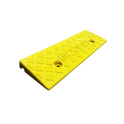 Rampas pequeñas, 3/5/6 cm de alto, no se puede mover para sillas de ruedas, dormitorio, sala de estar, rampas de umbral de plástico antideslizante (tamaño: 47,5 x 15 x 3 cm, color: amarillo)