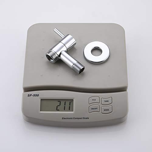 KES K1001C Angebot Wasserhahn Messing 1/Einlass 5.08 3 cm – 10.16 cm (Mit Auslauf, Wandbefestigung, Poliertes Chrom - 7