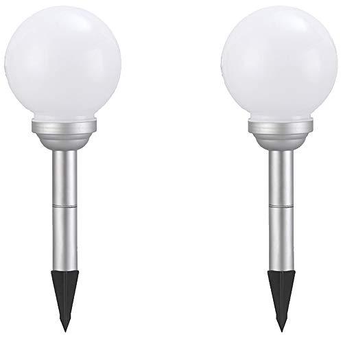 Dapo® LED-Solar-Garten-Außen-Kugel-Leuchte-Lampe OLA mit Erdspieß IP44 Boden-Balkon-Treppen-Terrassen-Rasen-Leuchte-Lampe(D: 15 + 15cm)