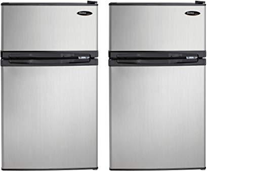 Danby DCR031B1BSLDD 3.1 cu. ft. 2 Door Compact Refrigerator, Steel (Pack of 2)