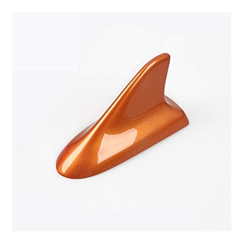 Happy Shop Auto squalo pinna antenna ABS tetto auto antenne squalo pinna antenna decorazione accessori sette colori per Honda 10th Civic 2019 2018 2017 2016 universale Arancione