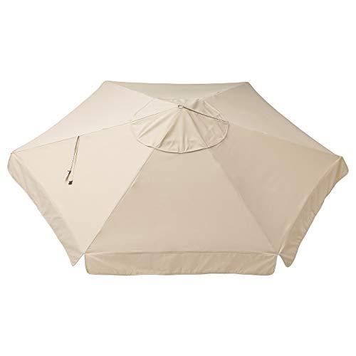 My- Stylo Collection Sonnenschirmüberdachung, Beige 260 g/m2, Durchmesser: 300 cm, Materialien: 100% Polyester (min. 90% Recycling)