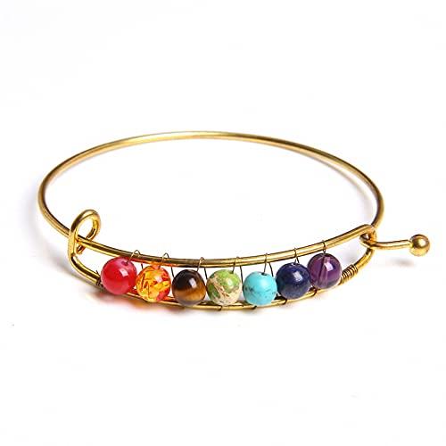 7 Chakra Bracelet Men Healing Balance Energy Natural Stone Beads Bangle Reiki Buddha Prayer Bracelets for Women Jewelry 8 19Cm