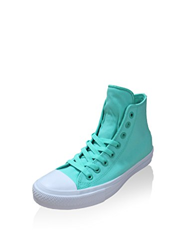 Converse Unisex All Star Chuck Taylor II Hi Fashion top Sneaker Shoes Teal (4 D(M) US)