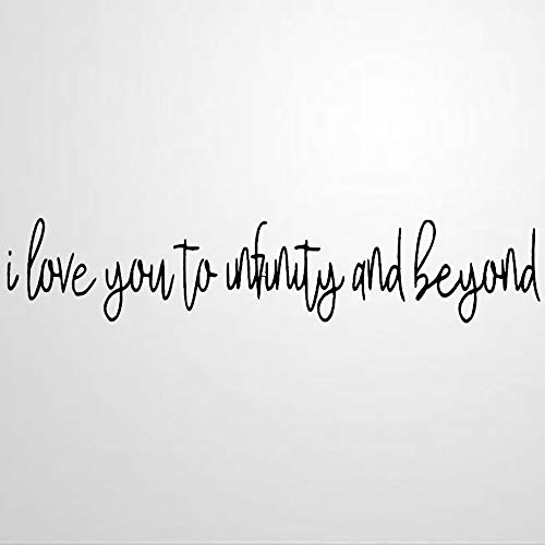 I Love You to Infinity and Beyond Vinyl Wall Decal, Wedding Inspirational Quotes Stickers Motivational Wall Art Sticker Wall Mural Home Decor for Kids Room Bedroom Living Room