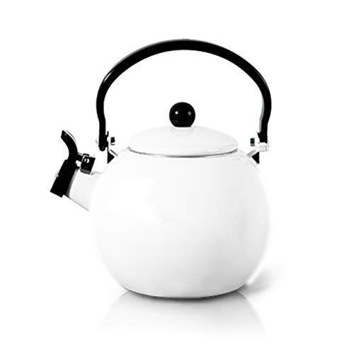 Bouilloire à gaz émaillée épaisse bouilloire de 1.4L UOMUN (Color : White)