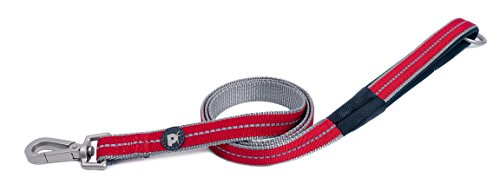 Petface Signature Padded Dog Lead, Small, Red
