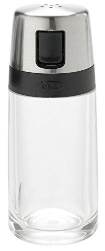 OXO 1241980 Good Grips Salt Shaker with Pour Spout,Clear/Silver,Salt & Pepper