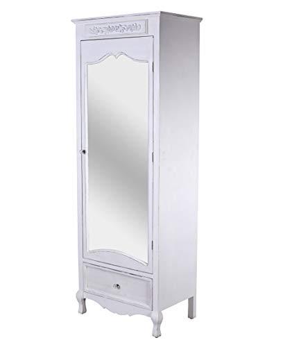 Dielenschrank Shabby Chic Spiegelschrank Wäscheschrank Landhausstil Schrank mxa082 Palazzo Exklusiv