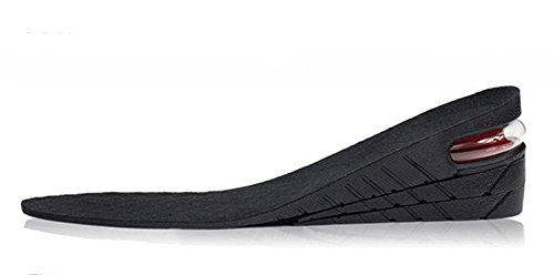 E-Bestar Einlegesohlen Leder up Air Cushion Erhöhung Höhe Einlegesohle Einstellbare Einlegesohle, 33,5 ~ 43,5, Schwarz