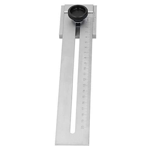 Regla de línea deslizante, regla paralela para carpintería, establo de acero al carbono para marcar y medir(200mm)
