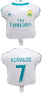 10pcs 18' Champions League Real Madrid or Barcelona foil Balloons Football Soccer (Polo Shape RC 4 Pieces Pieces)