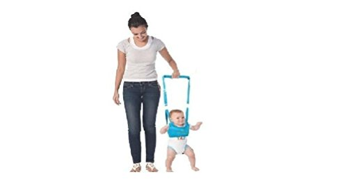King's Deal (Tm) Handheld Baby Walker Toddler Walking Helper Kid Safe Walking Protective Belt Child Harnesses Learning Assistant (Blue)