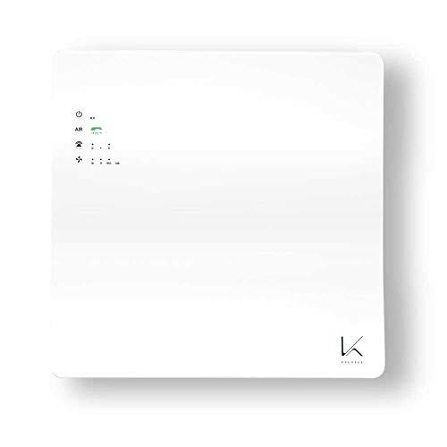 カルテック フィルター交換不要 光触媒 除菌・脱臭空気清浄機「ターンド・ケイ」壁掛タイプ KL-W01 吸着フィルターなしでも脱臭・除菌力がちがう光触媒技術 ホワイト