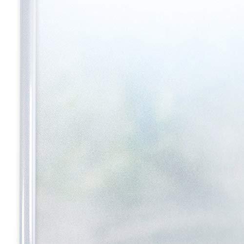 Homein Selbstklebende Sichtschutzfolie Statisch Haftend Fensterfolie 44,5x200cm, Blickdicht Fenster Milchglasfolie Sichtschutz Undurchsichtige Dekorfolie für Duschkabine Bad Badezimmer Tür Matt