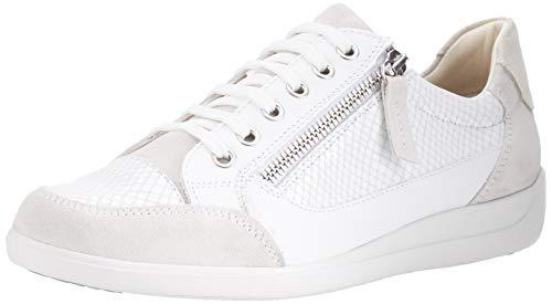 Geox D Myria A D64, Zapatillas Mujer, Blanco Apagado, 39 EU