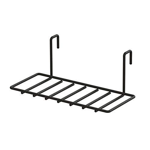 平安伸銅工業 LABRICO DIY収納パーツ ナゲシレールシェルフ KXK-213 ブラック 奥行14×高さ9.6×幅24.5cm