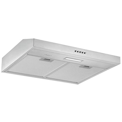 Ancona AN-1802 24 in. Under Cabinet Convertible Range Hood, Stainless Steel