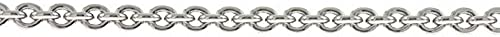 Sterling Silber Rund Links 3,8  WeißKette Halskette rhodiniert Rolo Kabel L e Optionen  46