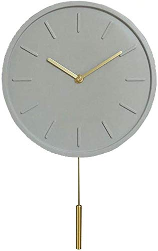 lfsp Fashion Classic Wall Clocks for Home and Office Magical Decorative Wall Clock New Modern Concrete Decorative Wall Clock Creative Living Room Industrial Wind Mute Clock,Brown Wall Art Decoration