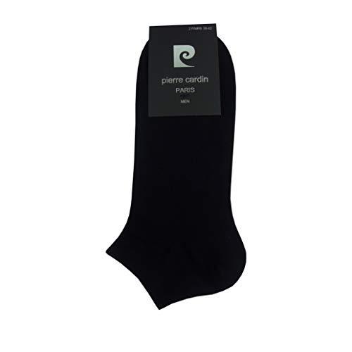 Pierre Cardin 12 Paar Sneakersocken Baumwolle Herren Socken Schwarz Weiss (Schwarz 12 Paar, 43-46)